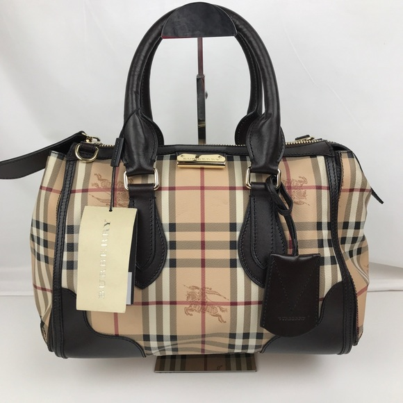 7337d5ebb0b9 New Burberry Plaid Gladstone Tote 3870759